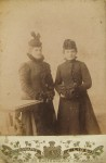 Sisters of the Yankel-Shmul Karasik, prerevolution photo taken in Priluki. Both disappeared during the WWII.