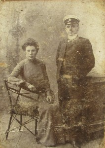 Brother of Mera Makarevich with wife. Both were killed during the Holocaust