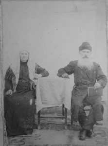 Aharon Belkin and his wife Rachel in Priluki, early 20th century. Courtesy of Arik Rahlenko