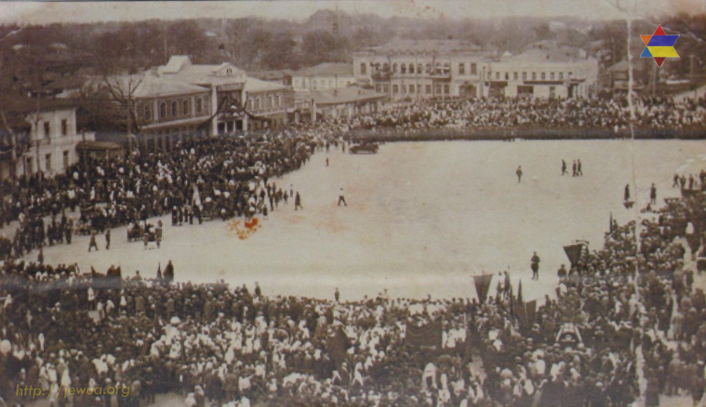 Market square in Priluki before the 1917 Revolution