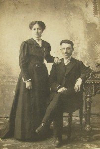 Rahel Karasik and her brother