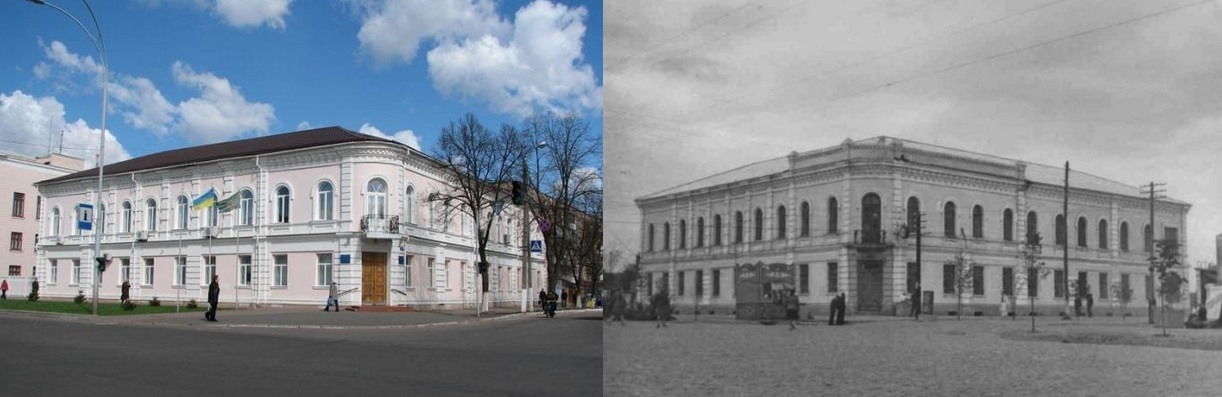Zolotarev's building now and 100 years ago
