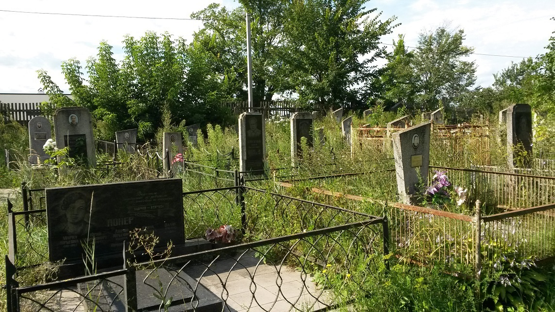 Post-WWII graves on Nezhin Jewish cemetery