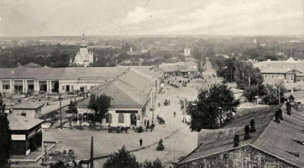 Market square in Chernigov. PreRevolution photo