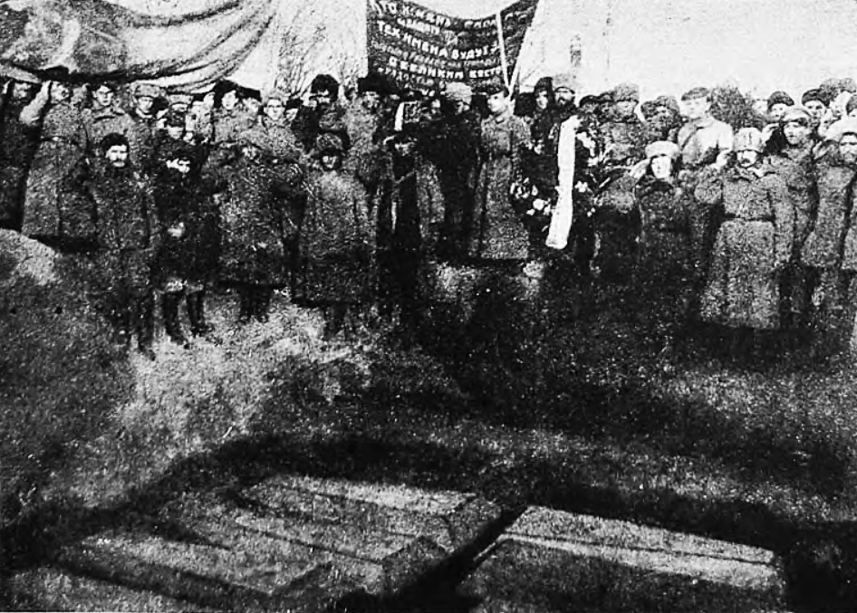 Funeral of Jewish vicitms which were killed by bandits. Civil War period