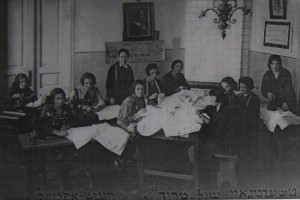 "Sewing School ""Trud"". Photo by 1920's from JOINT Archiv"