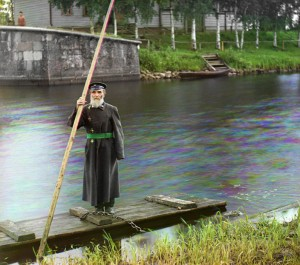Pinhas Karlinsky - keeper of Chernigov flood gates Mariinsky channel. Photo by 1909
