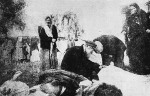 Jews identifying their relatives among victims of Denikin's pogrom