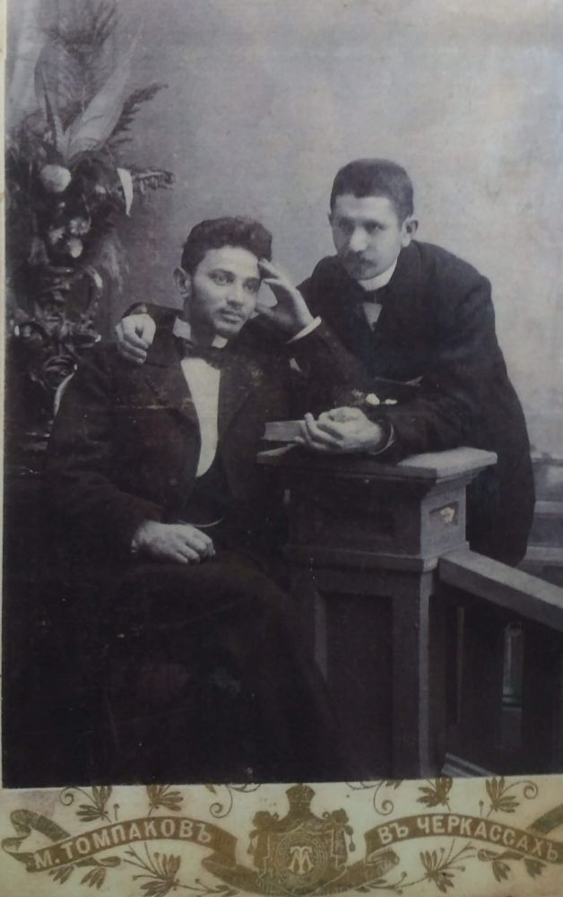 Hertz Naftulovich Dubinskiy (right), Cherkassy 1901. Photo from collection of Judaica Institute, Kiev.