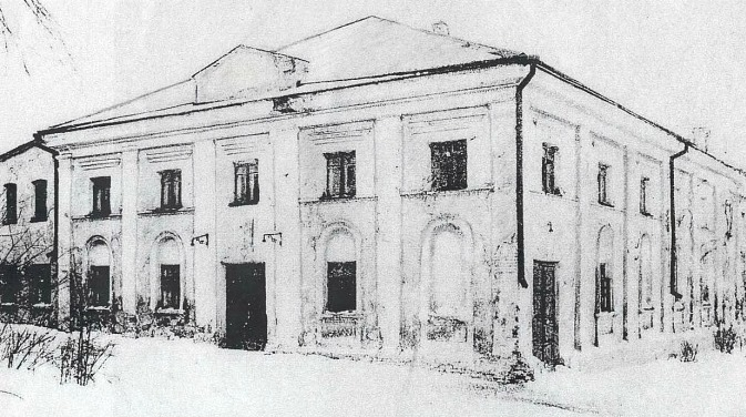 Synagogue on Chernogo Str. Burned in 1950th