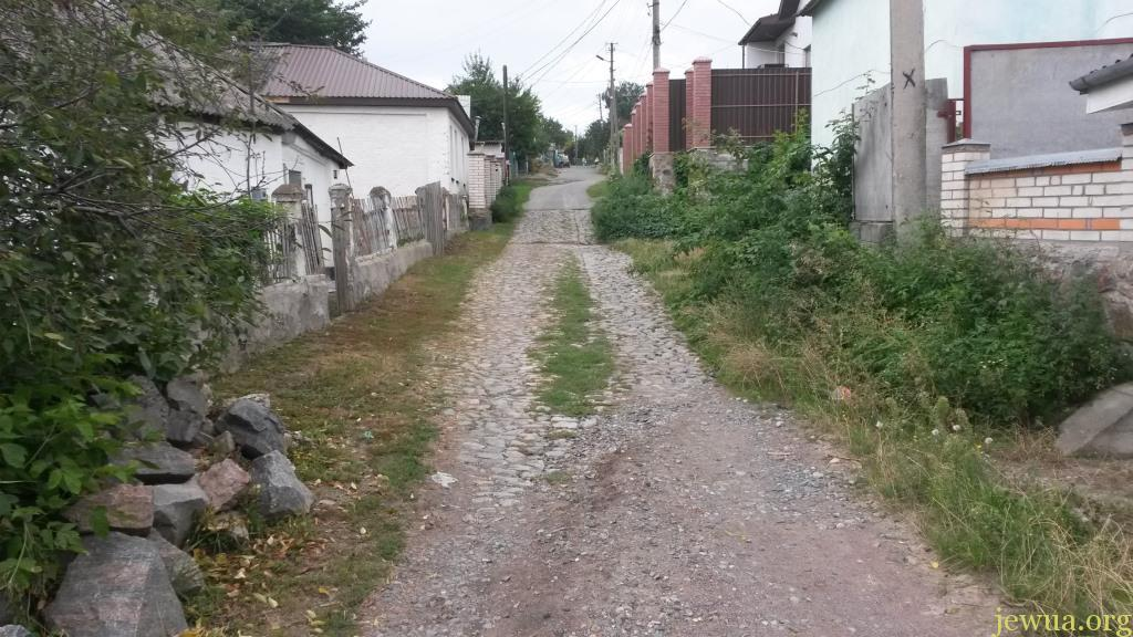 Old paved road in former Talnoe Jewish neighborhood