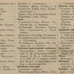 Enterpreneurs list from 1914