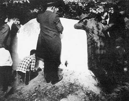 Hasids on the grave of Rabbi Jacob Joseph. End of 1980th.