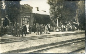 Talne railway station in 1919