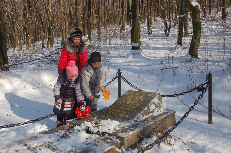 Boguslav Jews near Holocaust mass grave