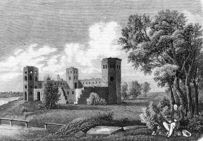 Castle in Pilyava. Engraving by 1864