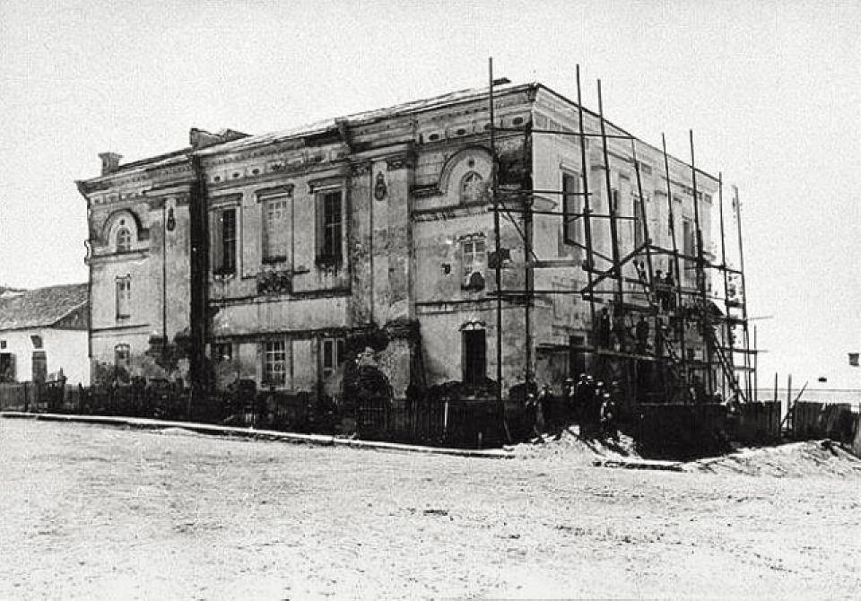 Mezhyrichi synagogue. Build in 1713, destroyed during WWII.