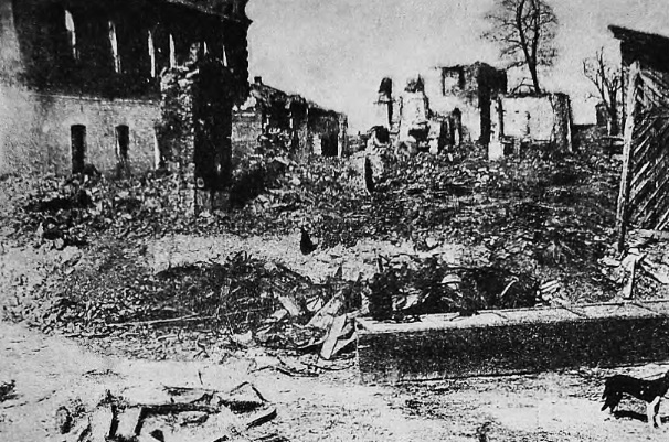 Ruins in Boguslav after pogrom
