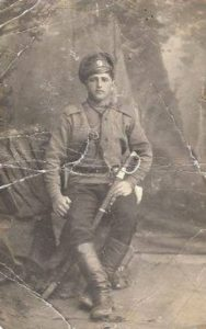 Joseph Bellibroff from Boguslav during his service in the Russian army during WWI. Photo provided by Jack Bell.