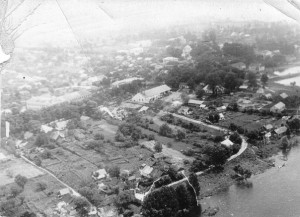 Mlinov from the aerophotography. MIddle of the XX century.