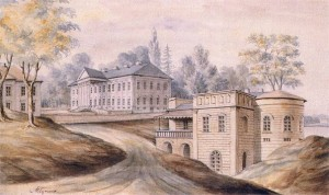 "Napoleon Orda '""Hodasevich Palace in Mlinov"", middle of XIX century"