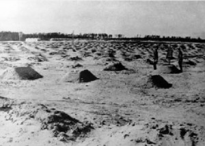 Сaptive's graves from Grosslazaret 301. Photo by 1944