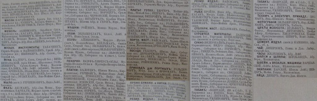 Berdichev in Business directory page 3, 1903