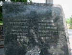 Inscription on the monument on the grave of Holocaust victims