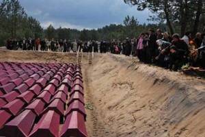Reburial of Soviet soldiers in 2007 at the Memory Field