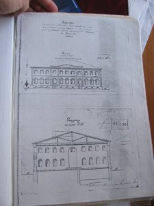 Plan of Choral Synagogue from Chernigov Archiv