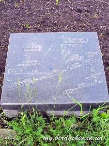 Plan of graves near main monument near road from Berdichev to Raygorodok. Photo my.berdychiv.in.ua