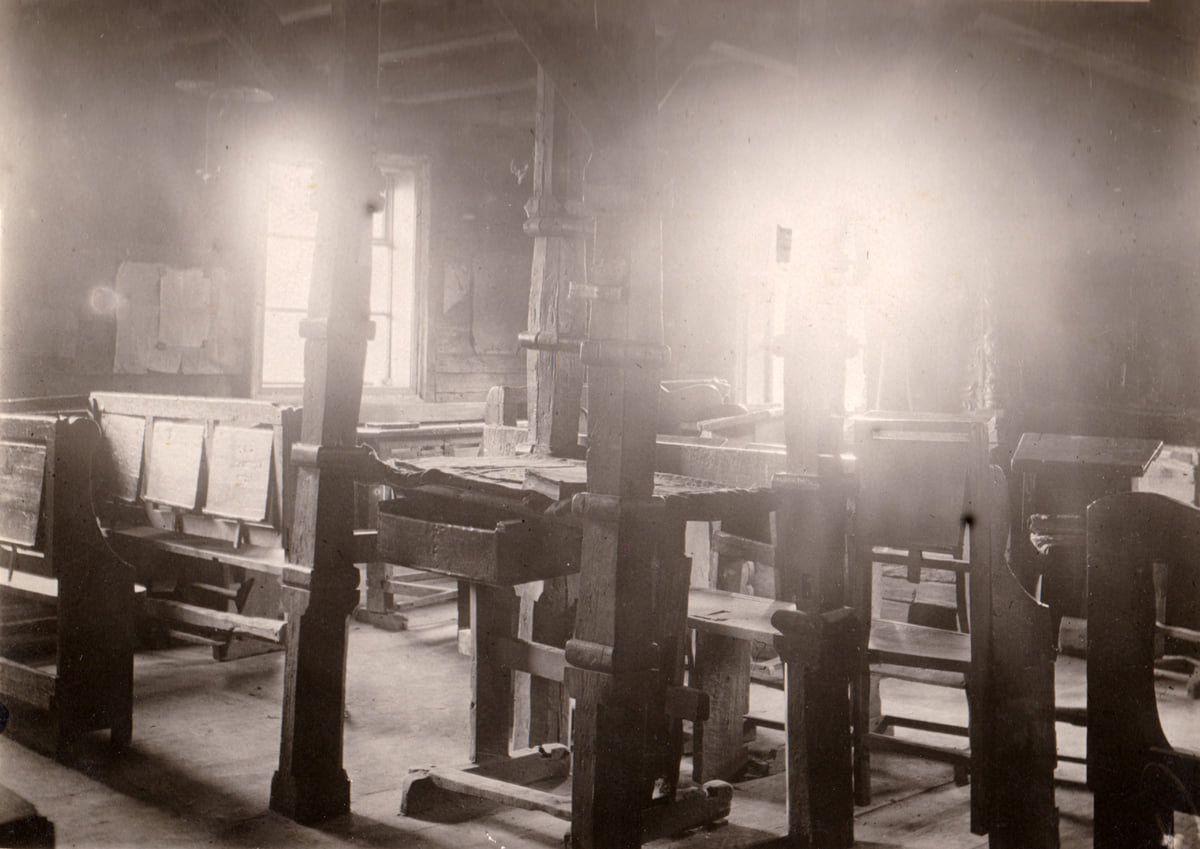Inside Besht's Beis Midrash, 1930's. Photo from the collection of Stefan Taranushenko.