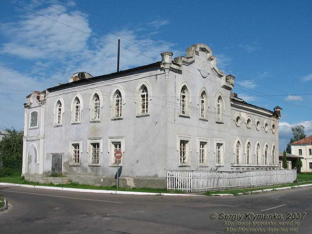 Building of the synagogue in Korop
