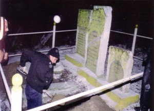 Move of Tzadikim's gravestones from New Jewish cemetery
