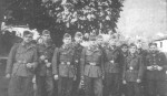 Jaboc Interman (fifth from the right) with Polish soldiers