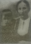 Bella Wernigora with daughter in village Berezova Rudka. Bella was killed but his daughter Anna was saved by Motrya Stegniy.