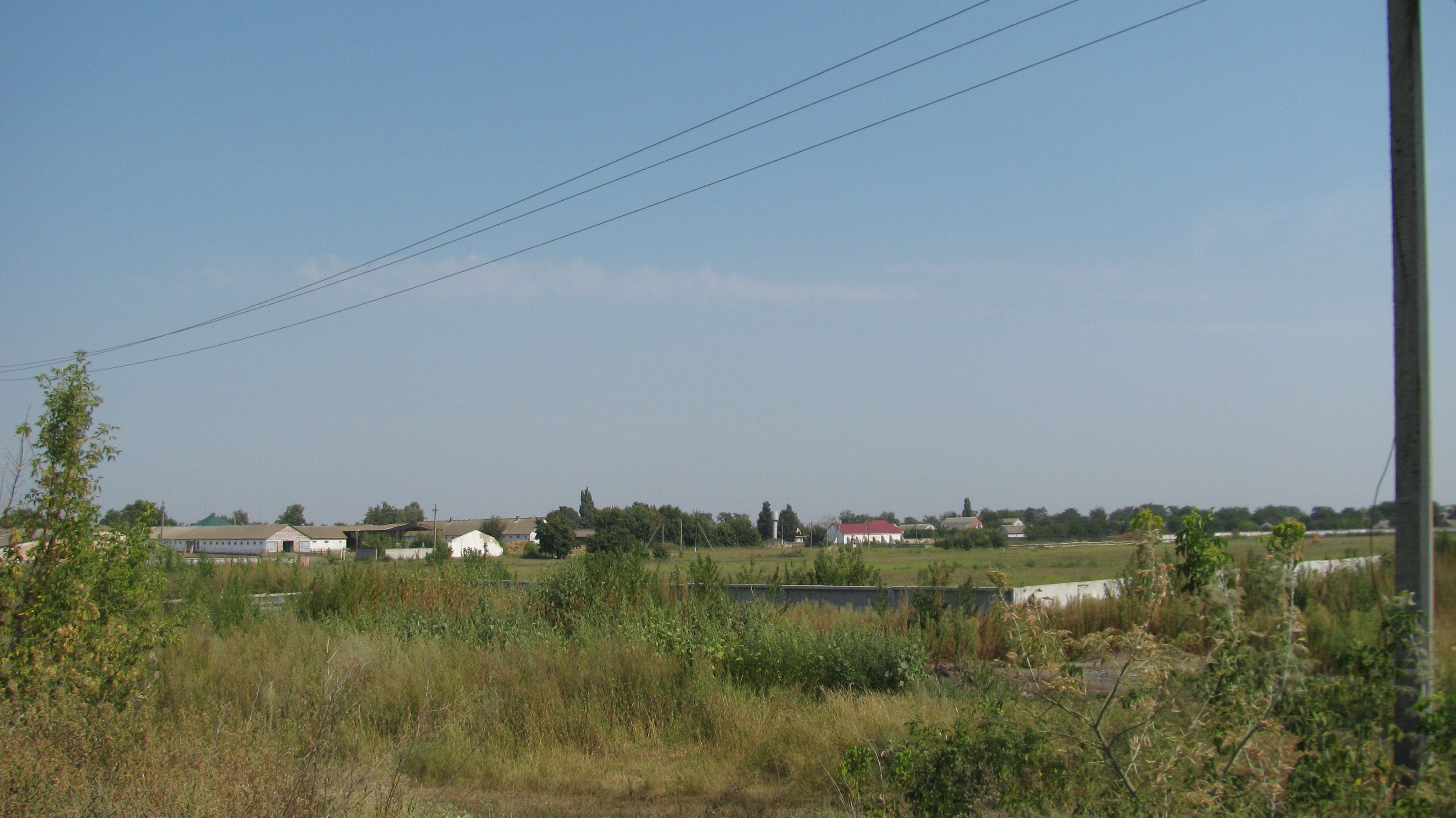 Territory of former Jewish collective farm in 2015