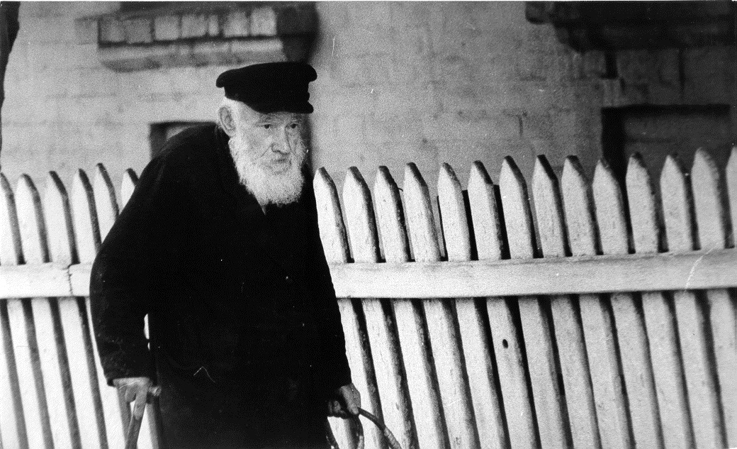 Last Rabbi of Khabno, 1960's. Photo was made by Gennadiy Smolyansky in 1960's and provided by him to JewUA.org in 2016.