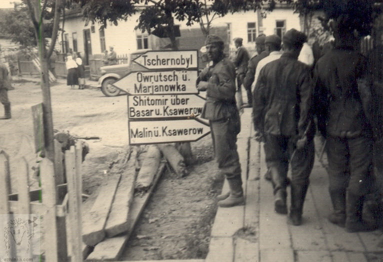 German soldiers on the streets of Khabno