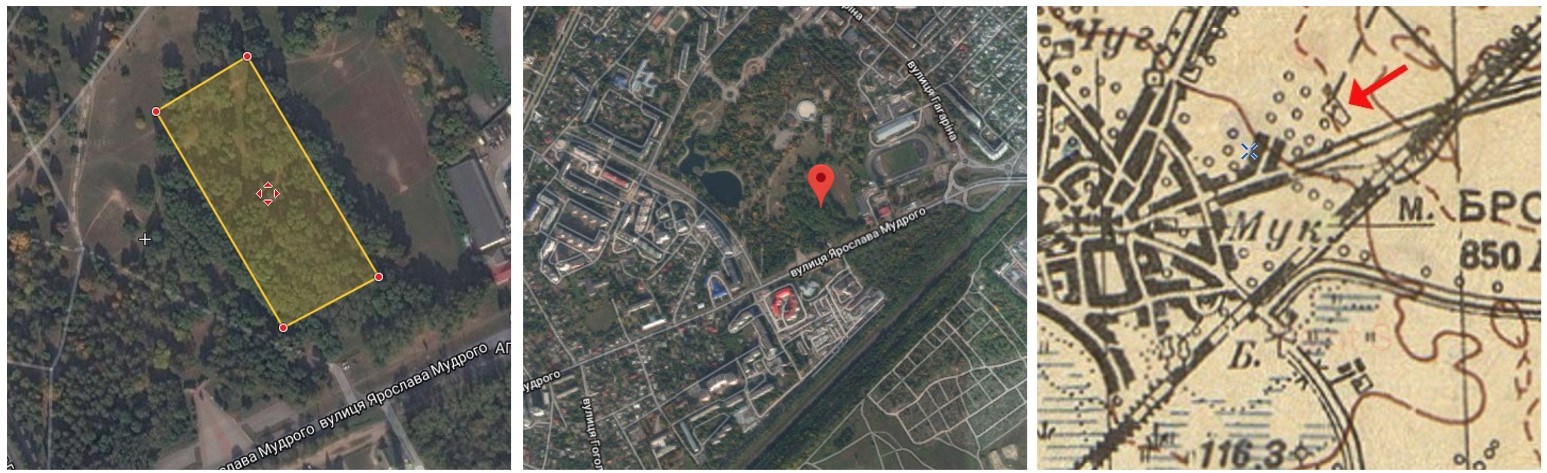 Location of Brovary Jewish cemetery. Photo from the Surveys of Jewish cemeteries by ECJF