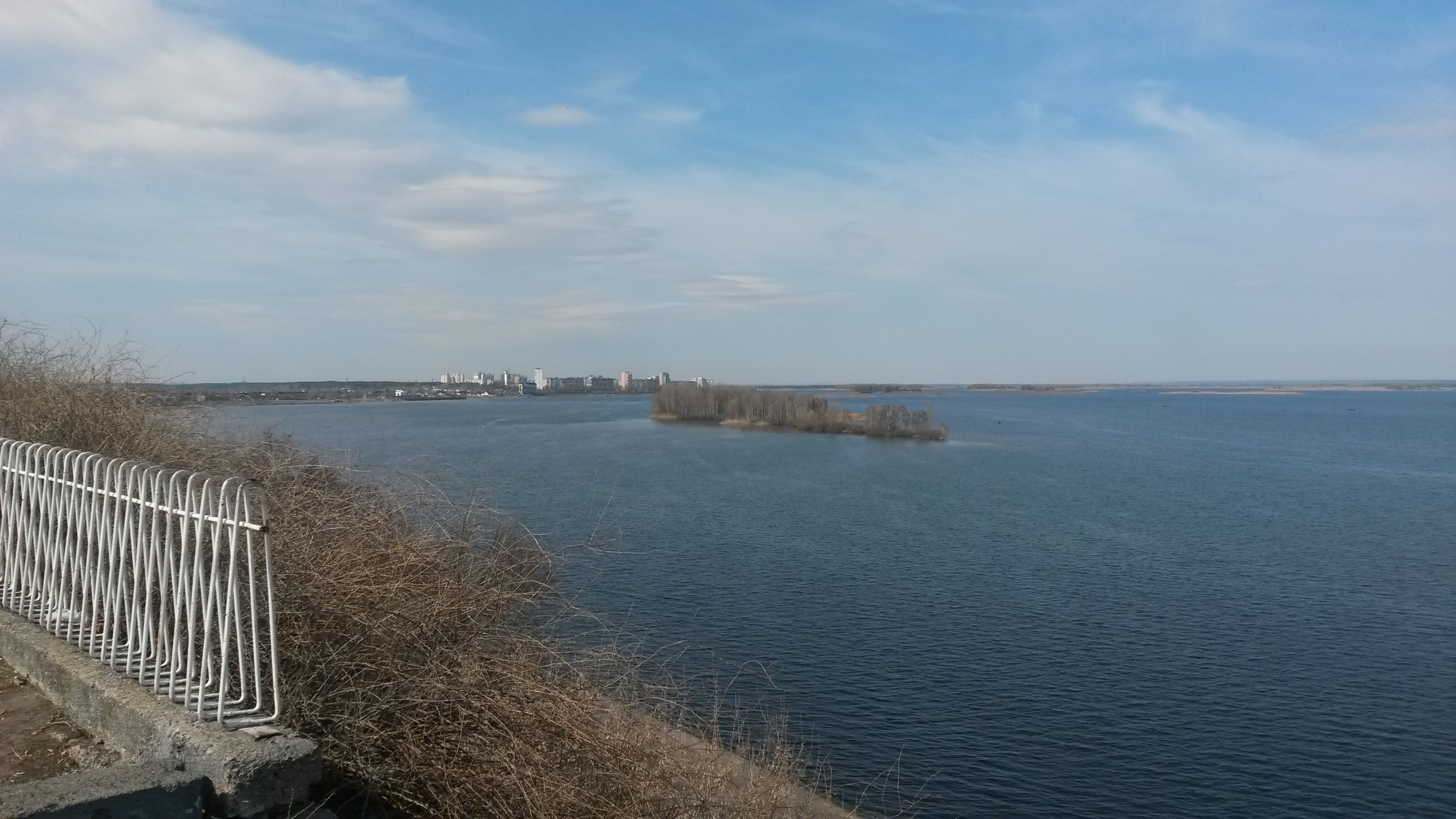 Dnieper river near site of Trypillia castle
