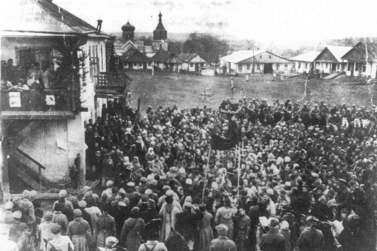Some celebration in the main market square of Krasnoe in 1923
