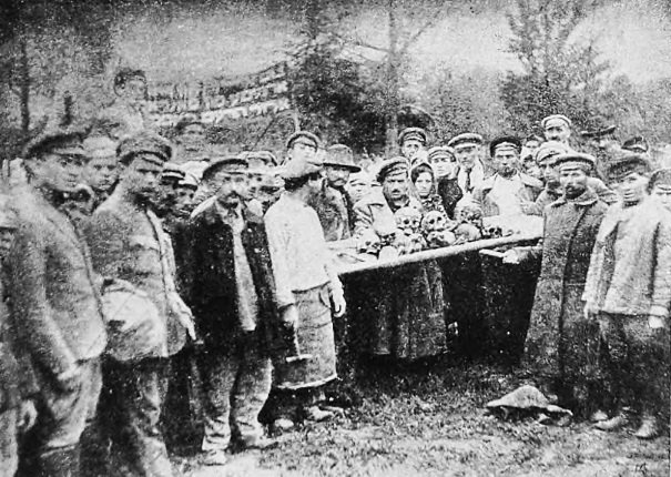 Funeral of bones which were find in different places after Denikin's pogrom, September 1919