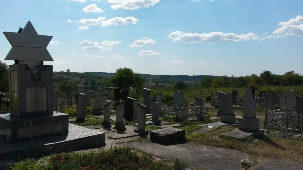 Holocaust memorial and new part of Korsun Jewish cemetery, 2016