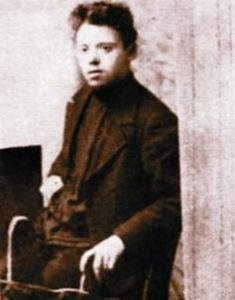 Bentsion Dinaburg in 1905, the future Minister of Education and Culture of Israel Ben-Tsion Dinur
