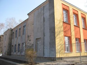 Building of the former Korsun Jewish school which was seriously reconstructed after the WWII