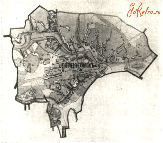 Map of Khorol from the middle of XIX century
