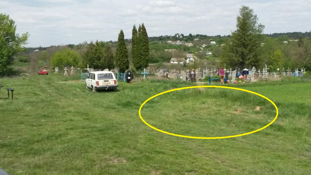 Unmarked Holocaust mass grave near Christian cemetery in 100 meters from Jewish cemetery