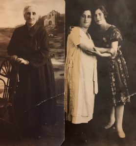 Chava Muzykant-Noskin and her daughter Sanya and granddaughter Manya. Tarashcha,1920's. Photo provided by Joel Levit