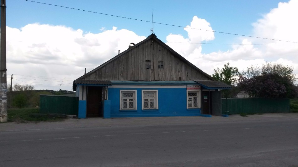 Former Jewish shop in the center of Orynin, 2016